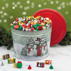 Snow Family 14 lb Hershey's Holiday Mix Tin