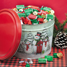 Personalized Hershey's Happy Holidays Mix Snow Family Tin - 10 lb