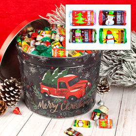 Tree Farm Truck 10 lb Hershey's Holiday Mix Tin