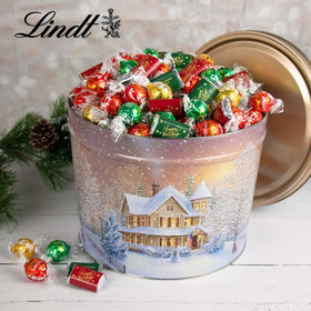 Home for the Holidays Happy Holidays 9.5lb Tin Hershey's Miniatures & Lindt Truffles