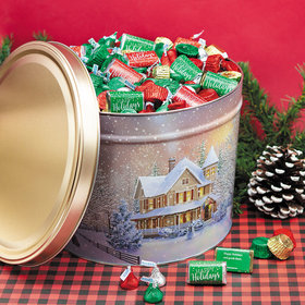 Personalized Hershey's Happy Holidays Mix First Homecoming Tin - 10 lb