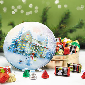 All Decked Out 1 lb Hershey's Holiday Mix Tin