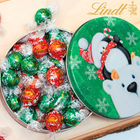 Cold but Cozy Christmas Gift Tin Lindt Truffles (24pcs)