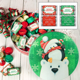 Personalized Cold But Cozy 1 lb Merry Christmas Hershey's Holiday Mix Tin
