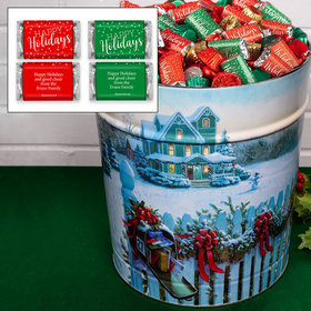 Personalized Christmas Mail 20 lb Happy Holidays Hershey's Mix Tin