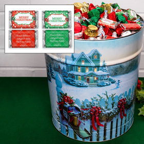Personalized Christmas Mail 20 lb Merry Christmas Hershey's Mix Tin