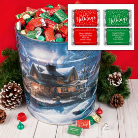 Personalized First Homecoming 20 lb Happy Holidays Hershey's Mix Tin