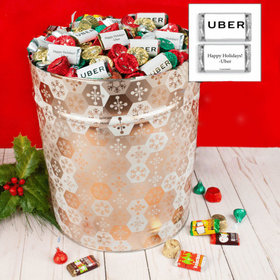 Personalized Shining Snowflakes 20 lb Add Your Logo Hershey's Mix Tin