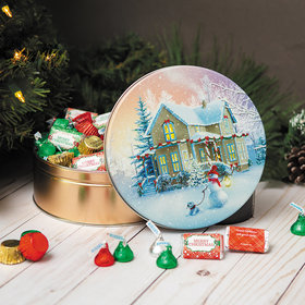 Personalized Hershey's Merry Christmas Mix All Decked Out Tin - 2 lb