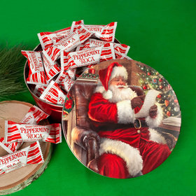 Christmas Checking it Twice Tin with Dark Chocolate Peppermint Roca (approx 25 pcs)