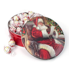 Checking It Twice Christmas Gift Tin White Chocolate Peppermint Lindt Truffles (45pcs)