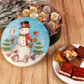 Forest Friends Christmas Gift Tin Assorted Brownies (16pcs)