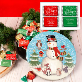 Personalized Forest Friends 2 lb Happy Holidays Hershey's Mix Tin