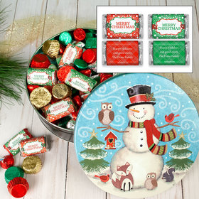 Personalized Forest Friends 2 lb Merry Christmas Hershey's Mix Tin