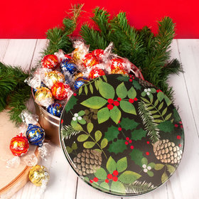Golden Pinecones Christmas Gift Tin Lindt Truffles (45pcs)