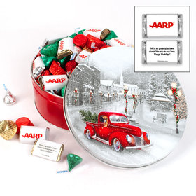 Personalized Snowy Drive 2 lb Add Your Logo Hershey's Mix Tin