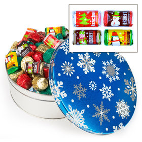 Blue Flurries 3C - 3 lb Hershey's Holiday Mix Tin