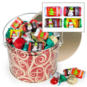 Golden Swirls 3.5 lb Hershey's Holiday Mix Tin