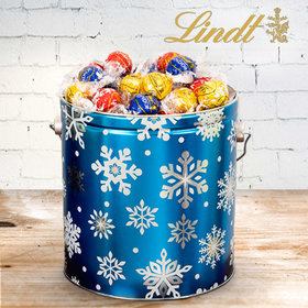 Christmas Flurries 3.55lb Tin with Lindor Truffles by Lindt (Approx 130pcs)