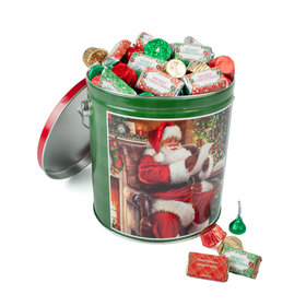 Personalized Checking It Twice 5lb Merry Christmas Hershey's Mix Tin