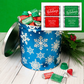 Personalized Flurries 5lb Happy Holidays Hershey's Mix Tin