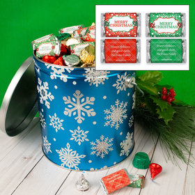 Personalized Flurries 5lb Merry Christmas Hershey's Mix Tin