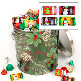 Golden Pinecones 5lb Hershey's Holiday Mix Tin
