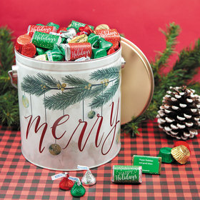 Personalized Hershey's Merry Christmas Mix Very Merry Tin - 5 lb