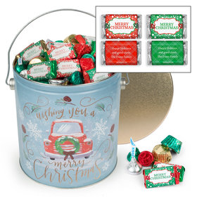 Personalized Vintage Christmas 5 lb Merry Christmas Hershey's Mix Tin