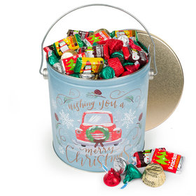 Vintage Christmas 5 lb Hershey's Holiday Mix Tin