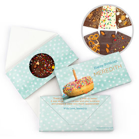 Personalized Birthday Donut Worry Be Happy Gourmet Infused Belgian Chocolate Bars (3.5oz)