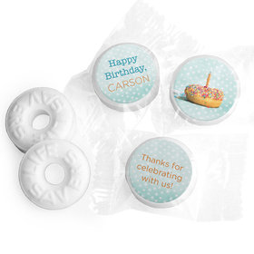 Personalized Birthday Donut Worry Be Happy Life Savers Mints