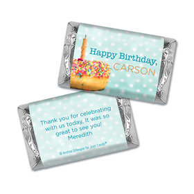 Personalized Birthday Donut Worry be Happy Hershey's Miniatures Wrappers