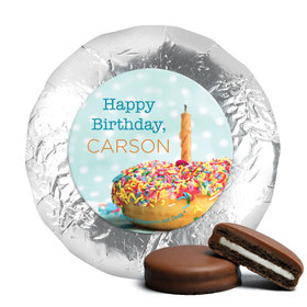 Personalized Birthday Donut Worry Be Happy Chocolate Covered Oreos