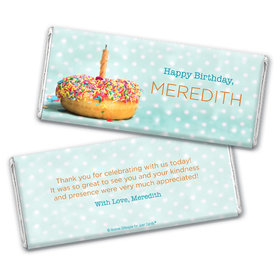 Personalized Birthday Donut Worry be Happy Chocolate Bar & Wrapper