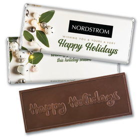 Personalized Christmas Bells Embossed Chocolate Bar