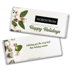 Personalized Christmas Bells Chocolate Bar & Wrapper