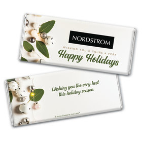 Personalized Christmas Bells Chocolate Bar Wrappers Only