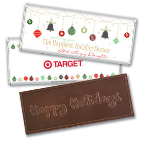 Personalized Christmas Happiest Ornaments Embossed Chocolate Bar