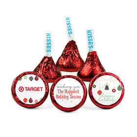 Personalized Christmas Happiest Ornaments Hershey's Kisses (50 pack)