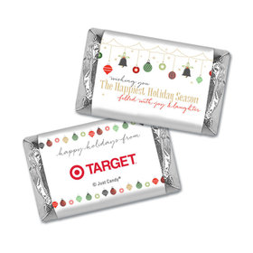 Personalized Christmas Happiest Ornaments Hershey's Miniatures Wrappers