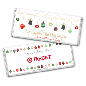 Personalized Christmas Happiest Ornaments Chocolate Bar & Wrapper