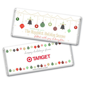 Personalized Christmas Happiest Ornaments Chocolate Bar Wrappers Only