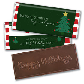 Personalized Christmas Very Merry Greetings Embossed Chocolate Bar