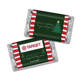 Personalized Christmas Very Merry Greetings Hershey's Miniatures Wrappers