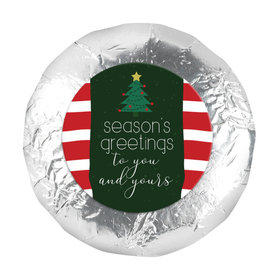 "Christmas Very Merry Greetings 1.25"" Stickers (48 Stickers)"
