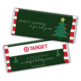 Personalized Christmas Very Merry Greetings Chocolate Bar & Wrapper
