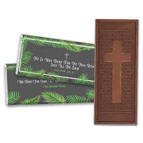 Personalized Easter Botanical Bible Verse Embossed Chocolate Bars