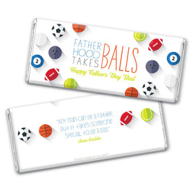 Personalized Father's Day Clever Balls Chocolate Bar Wrappers