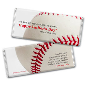 Personalized Father's Day World's Greatest Catch Chocolate Bar & Wrapper